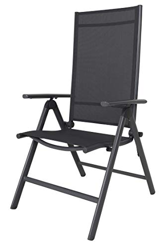 Chicreat 8-Way Adjustable Folding Chair, Grey, Aluminium