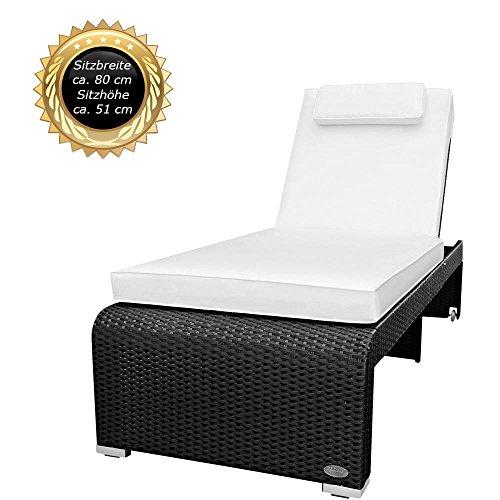 rattan sonnenliege klappbar. Black Bedroom Furniture Sets. Home Design Ideas