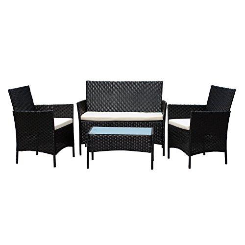 rattan gartenm bel set. Black Bedroom Furniture Sets. Home Design Ideas