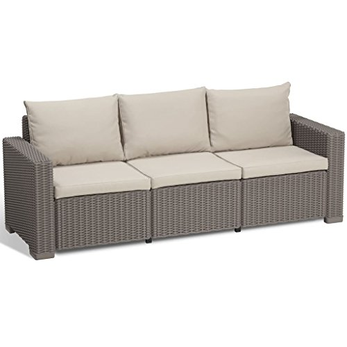 Allibert Sofa California 3-Sitzer cappuccino/panama sand
