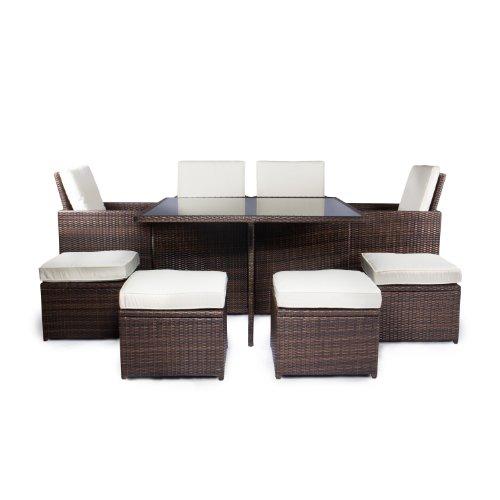 Rattan sofa indoor outdoor - Gartenmobel polyrattan braun ...