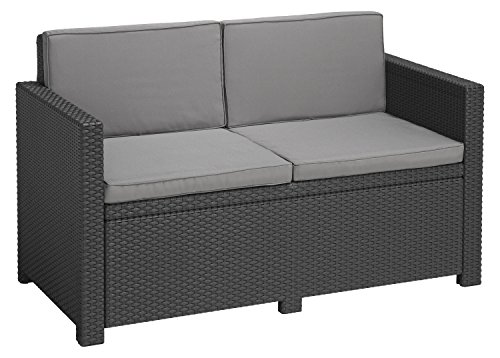 Allibert Lounge Sofa Victoria 2 Sitzer, graphit/cool grey