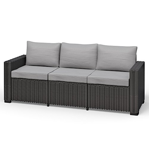 Allibert California 3 Sitzer Couch Rattanoptik