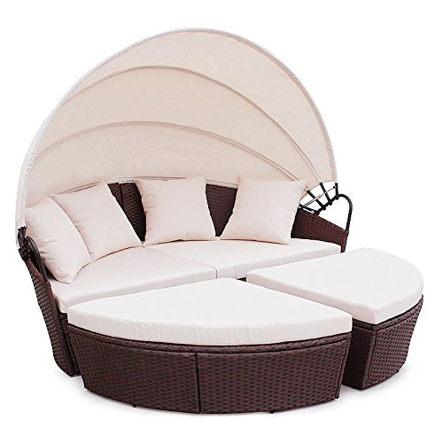 rattaninsel lounge. Black Bedroom Furniture Sets. Home Design Ideas