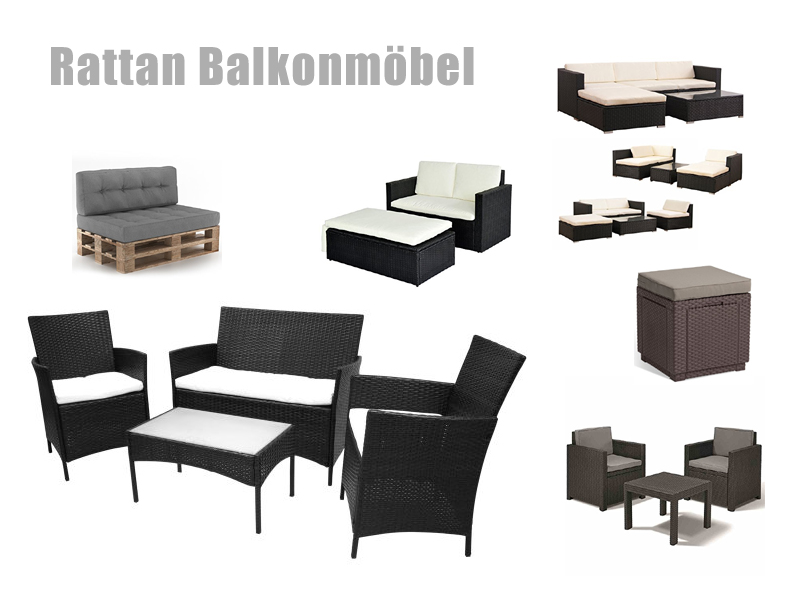 rattan balkonm bel polyrattan. Black Bedroom Furniture Sets. Home Design Ideas