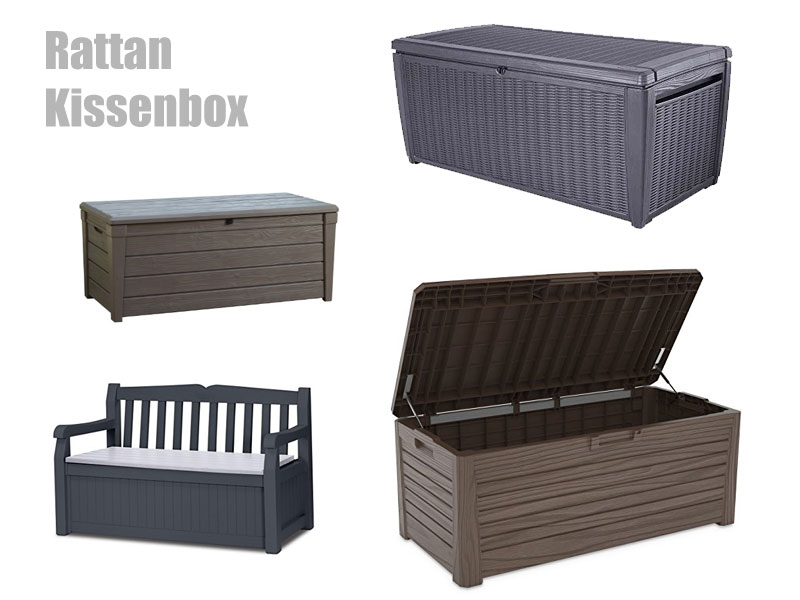 Rattan Kissenbox Aufbewahrungsbox