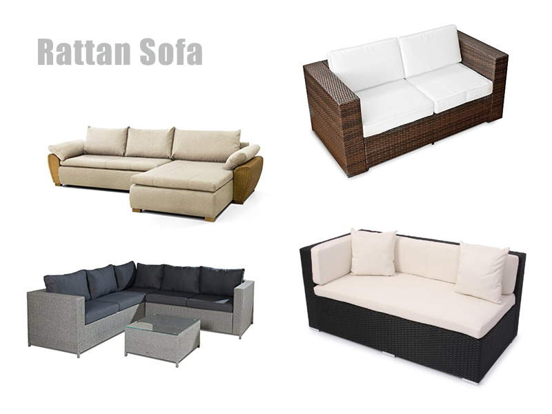 Rattan sofa outdoor  Rattan Sofa Indoor & Outdoor