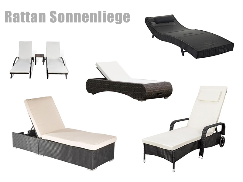 rattan sonnenliege klappbar. Black Bedroom Furniture Sets. Home Design Ideas