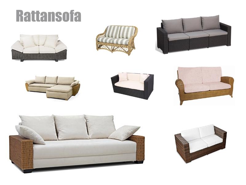 Rattansofa Outdoor oder Indoor